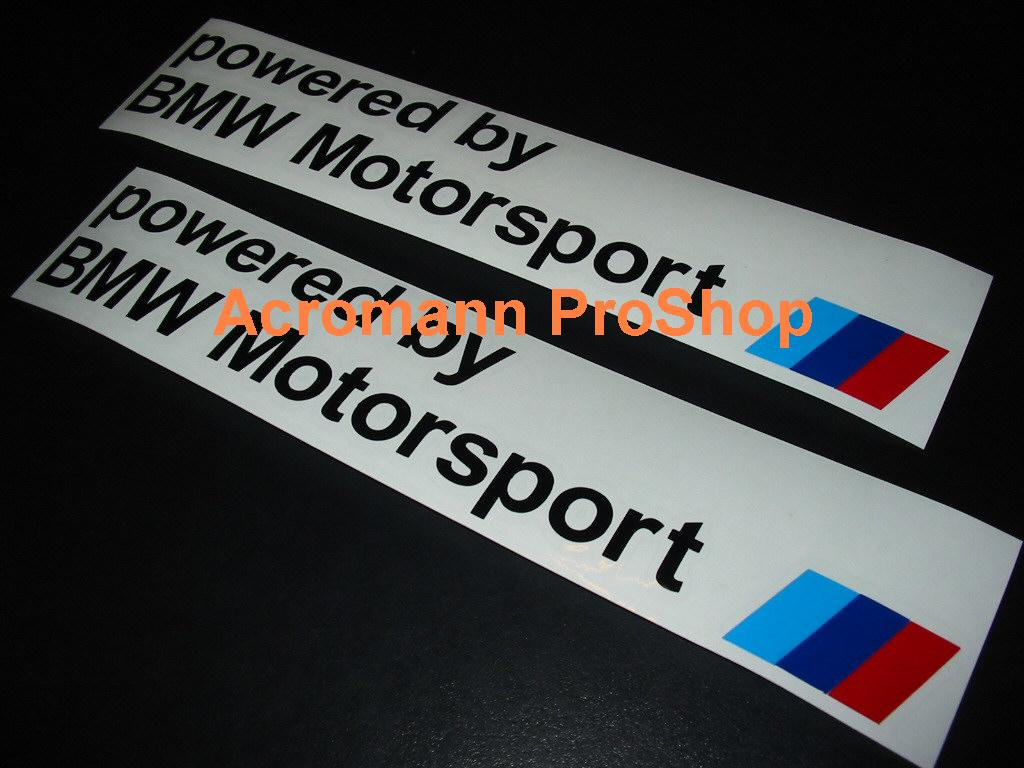 powered by BMW Motorsport 6inch Decal x 2 pcs